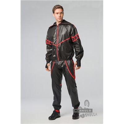 MASKULO - Men's Fetish Windbreaker Jacket Red