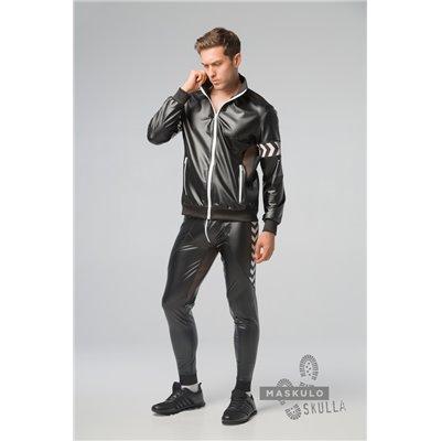 MASKULO - Men's Fetish Leatherette Jacket White