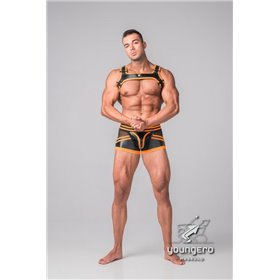 Maskulo - BeGuard Nylon Club Shorts with Foil Piping Details Orange