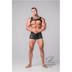 Maskulo - BeGuard Nylon Club Shorts with Foil Piping Details Blue