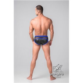 Addikt Leather Jockstrap Zip: Black & Pink
