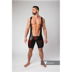 MASKULO - Wrestling Singlet Codpiece Open rear White