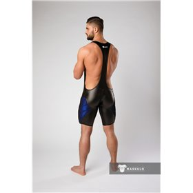 MASKULO - Wrestling Singlet Codpiece Thigh Pads Red
