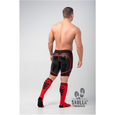 MASKULO - Life Men's Briefs Open rear Cotton Red