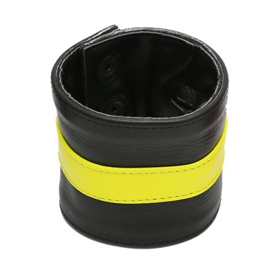 Addikt Smooth Leather Wristwallet: Neon Yellow