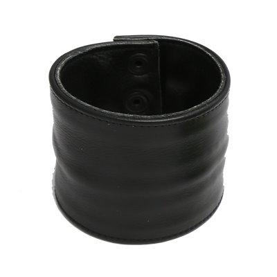 Addikt Smooth Leather Wristwallet: Full Black